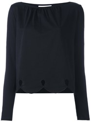 See By Chloe Cut Out Drop Blouse Black