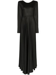 Christophe Lemaire Flared Jersey Maxi Dress Black