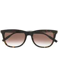 Montblanc Square Shaped Sunglasses Brown