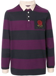 Kent And Curwen Striped Polo Shirt 60