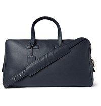 Tom Ford Grained Leather Holdall Navy
