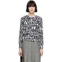 Comme Des Garcons White Letters Long Sleeve T Shirt