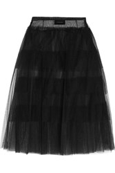 Simone Rocha Tiered Tulle Midi Skirt Black