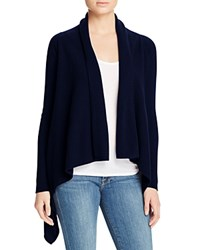Bloomingdale's C By Basic Open Cashmere Cardigan Dark Navy