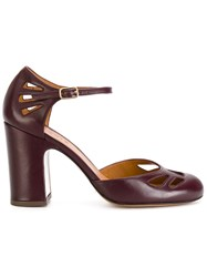 Chie Mihara Fraya Pumps Calf Leather Leather Rubber Pink Purple