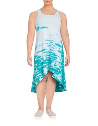 Marc New York Performance Tie Dyed Hi Lo Dress Sea Green