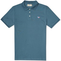 Maison Kitsune Tricolour Fox Polo Steel