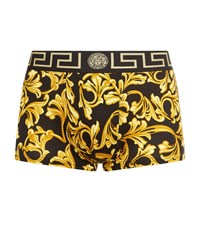 Versace Iconic Baroque Low Rise Trunks Male Yellow