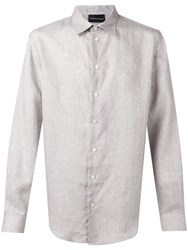 Emporio Armani Classic Button Up Shirt Neutrals