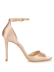 Jimmy Choo Tori 100Mm Satin Sandals Nude