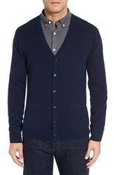 Nordstrom Men's Big And Tall Men's Shop Cashmere Cardigan Navy Charcoal