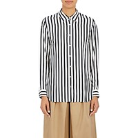Tomorrowland Women's Awning Striped Blouse Navy