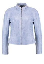 Gipsy Leather Jacket Chalk Blue