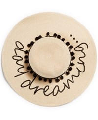 August Hats Hat Day Dreaming Floppy Hat Natural Black