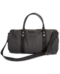Cathy's Concepts Personalized Black Canvas And Leather Duffle Bag