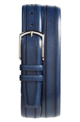 Mezlan Palma Leather Belt Medium Blue