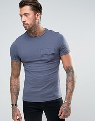 Another Influence Utility Pocket T Shirt Navy