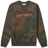 Carhartt Logo Sweat Green