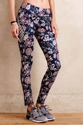 Pure Good Sempervivum Leggings Blue Motif