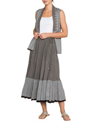 East Amy Crinkle Skirt Grey Black