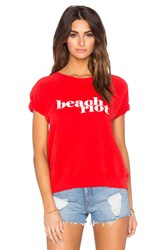 Beach Riot Fleece Tee Red