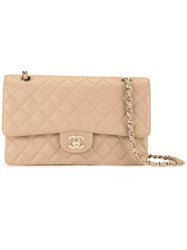 Chanel Vintage Small Cc Dual Flap Bag Brown
