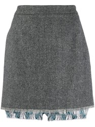 Thom Browne Mini Skirt With Bloomers Grey