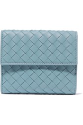 Bottega Veneta Intrecciato Leather Wallet Sky Blue