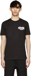Markus Lupfer Black Sequin Skull Heart T Shirt