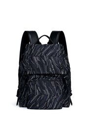 Lanvin Zebra Jacquard Backpack Blue