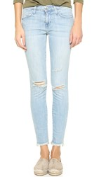 Current Elliott The Stiletto Jeans Midday Destroy With Raw Hem