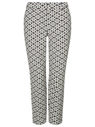 Phase Eight Alice Daisy Trousers Blue White