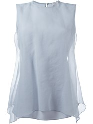 Brunello Cucinelli Layered Top Blue