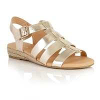 Lotus Makepeace Open Toe Sandals Gold