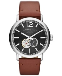 Marc By Marc Jacobs Men's Automatic Fergus Camel Leather Strap Watch 42Mm Mbm9714