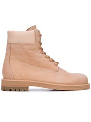 Hender Scheme Lace Up Boots Neutrals