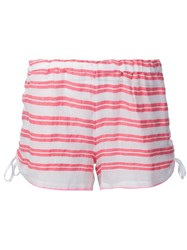 Lemlem Striped Short Shorts Pink And Purple