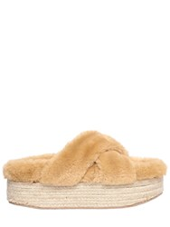 Jeffrey Campbell 60Mm Faux Fur Platform Slide Sandals