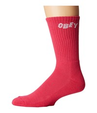 Obey Jumbled Socks Magenta Men's Crew Cut Socks Shoes Pink