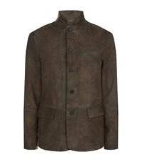 Allsaints Felton Leather Blazer Male Grey