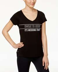 Ideology Plus Size Bridal Graphic T Shirt Only At Macy's Noir