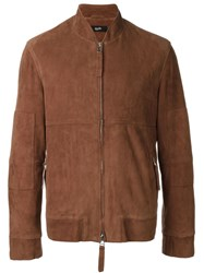 Blood Brother Zip Panelled Jacket Red