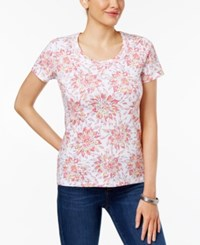 Charter Club Printed Cotton T Shirt Only At Macy's Glamour Pink