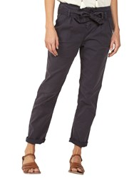 Fat Face Tie Waist Tapered Trousers Charcoal
