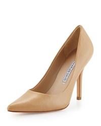 Charles David Sway Ii Leather Pointed Toe Pump Camel