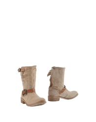 Nylo Ankle Boots Beige