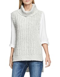 Vince Camuto Sleeveless Turtleneck Knit Pullover Grey