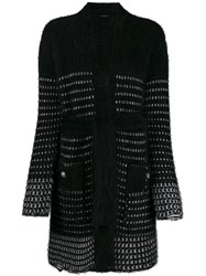 Balmain Long Cardigan Black