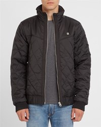 G Star Black Meefic Utility Zipped Hooded Quilted Down Jacket