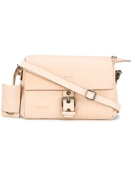 Marsell Buckle Detail Crossbody Bag Nude Neutrals